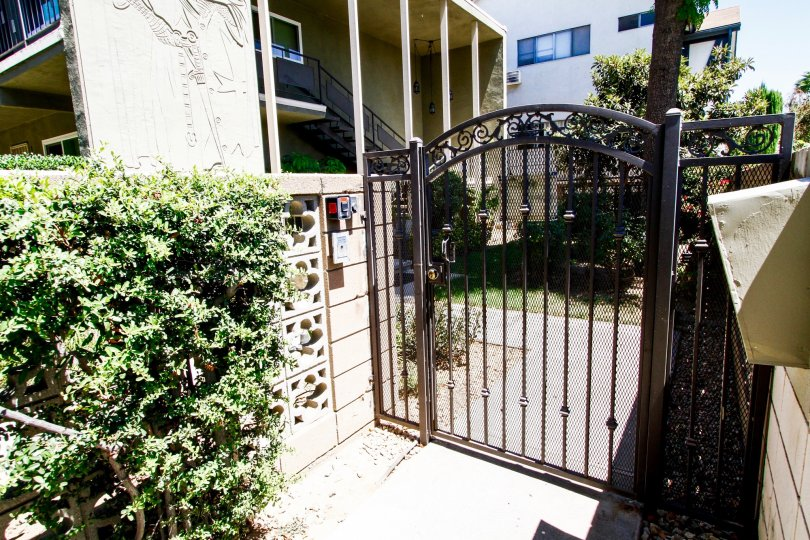 The gate into Southwood Condominiums