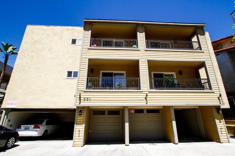 The balconies at Stocker Villas