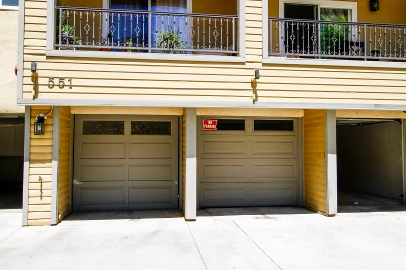 The garage for resdients of Stocker Villas in Glendale California