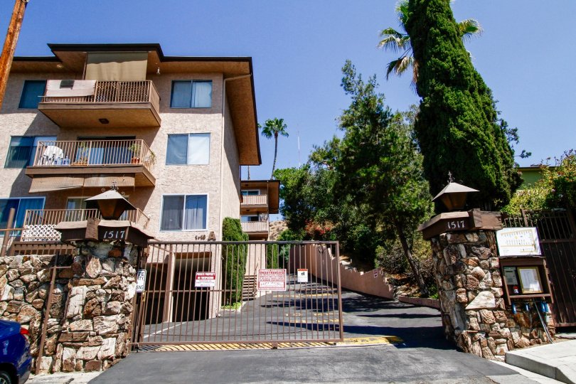 The gate entrance into the Terrace View in Glendale California