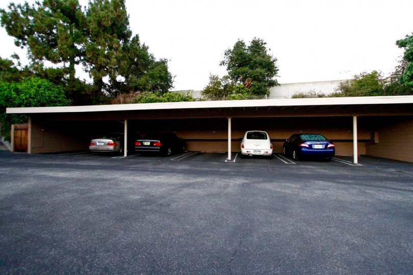 The garage for parking at The Highlands in Glendale California