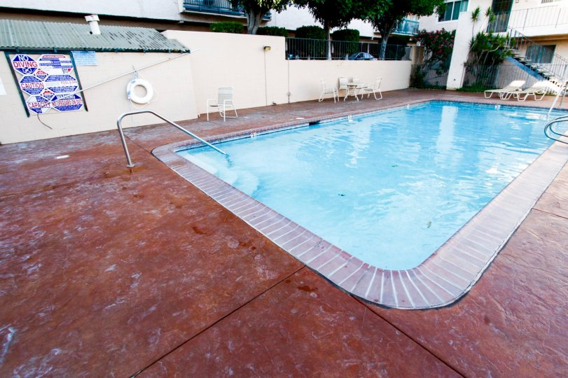 The pool at the Verdugo Penthouse in Glendale California