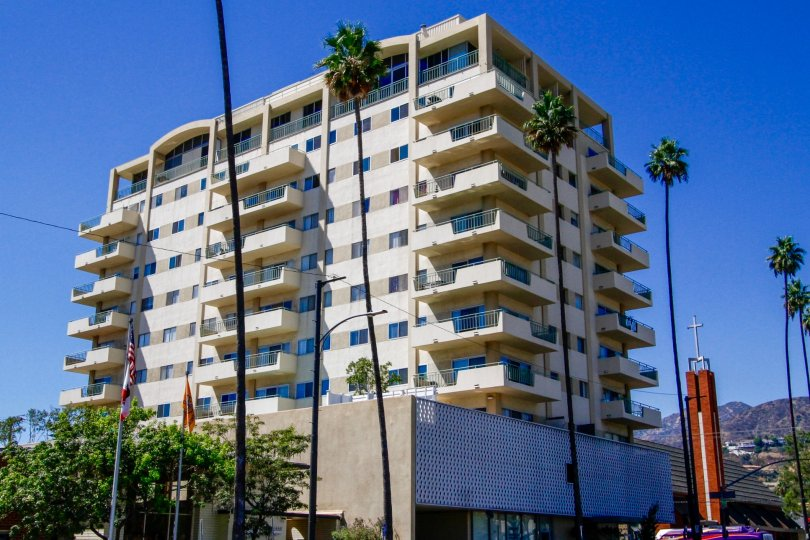The Verdugo Towers building in Glendale California
