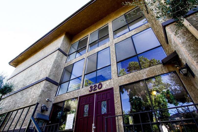 The address of Verdugo Vista on the building