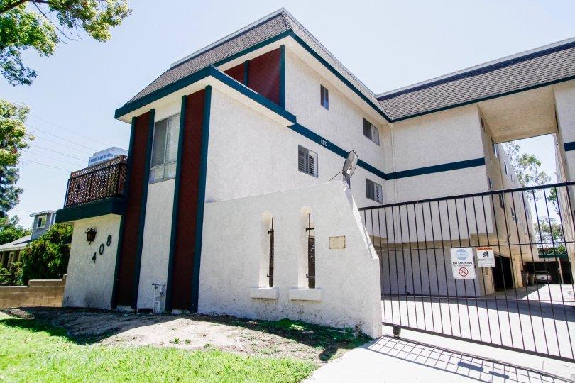 The gate into the Villa Monterey