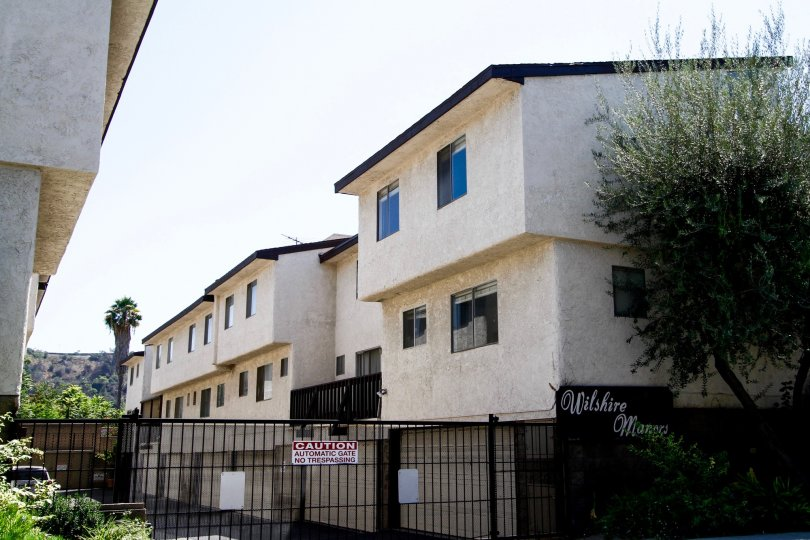 The windows on the units at Wilshire Manor Verdugo