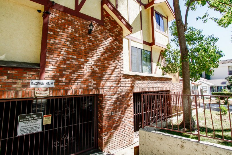 The parking at the Winchester Townhomes in Glendale California