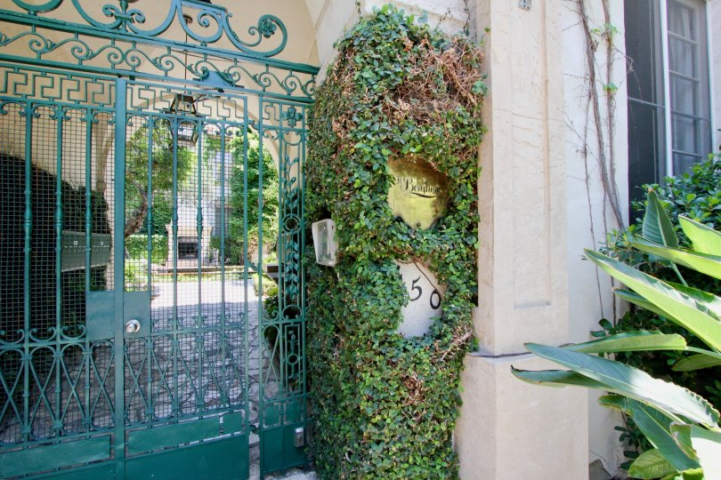 A beautiful and safe gated apartment complex with great landscaping.