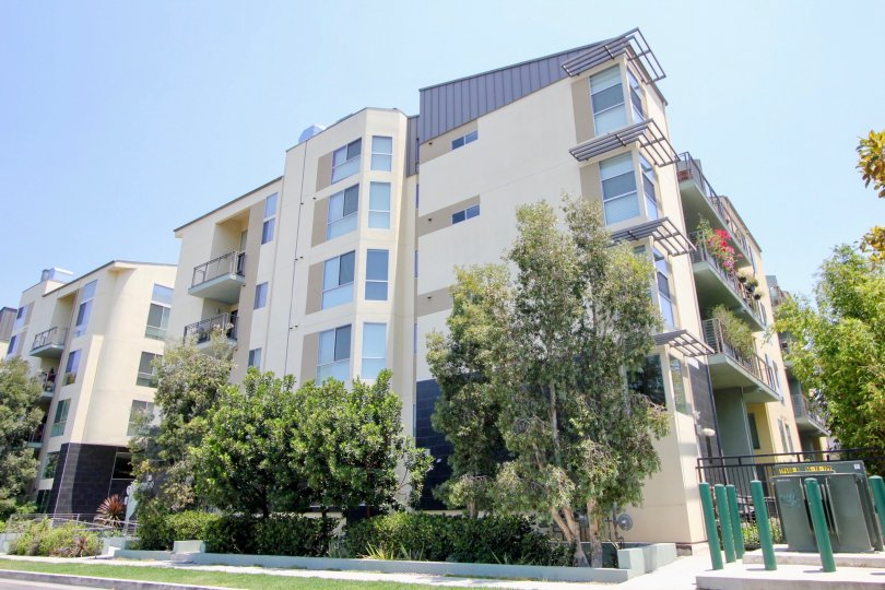 building, apartment complex, trees, neighborhood, greens,