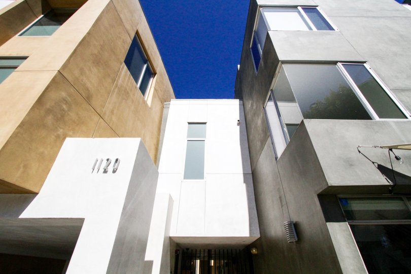 El Centro Lofts is a modern building constructed of glass and stucco