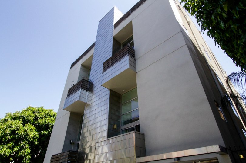 Hollywood Lofts is a modern building with straight lines, stucco and metal accents