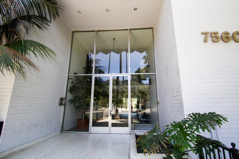 Oversized entry doors to Sierra Terrace in Hollywood