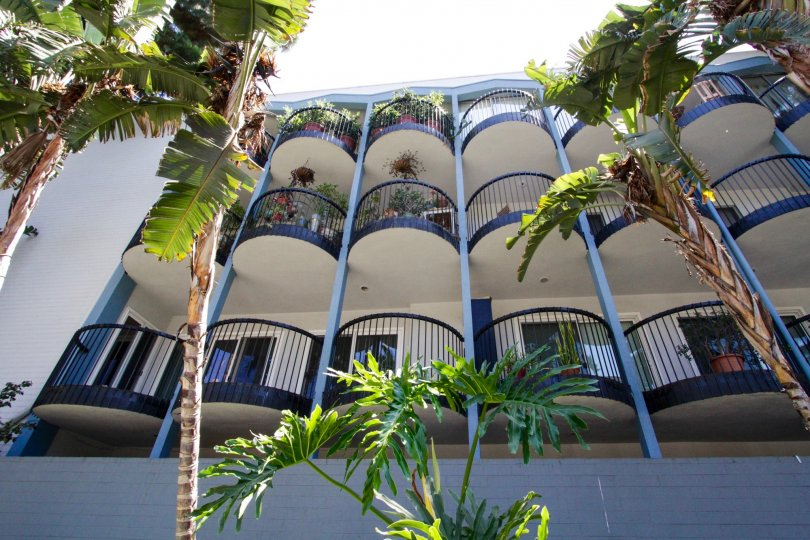 The Round balconies extending from the front of the Sierra Terrace condos is a beautiful architectural feature