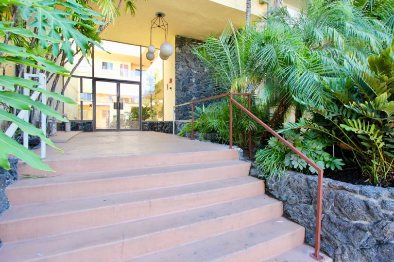 The stairs leading up to The Polynesian