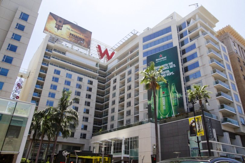 W Hollywood Residences is a large condo building in the heart of Hollywood