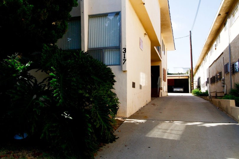 The driveway into 317 W Hyde Park Blvd in Inglewood