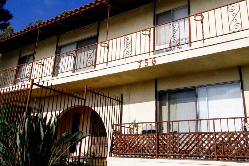 The balconies around 756 N Inglewood Ave