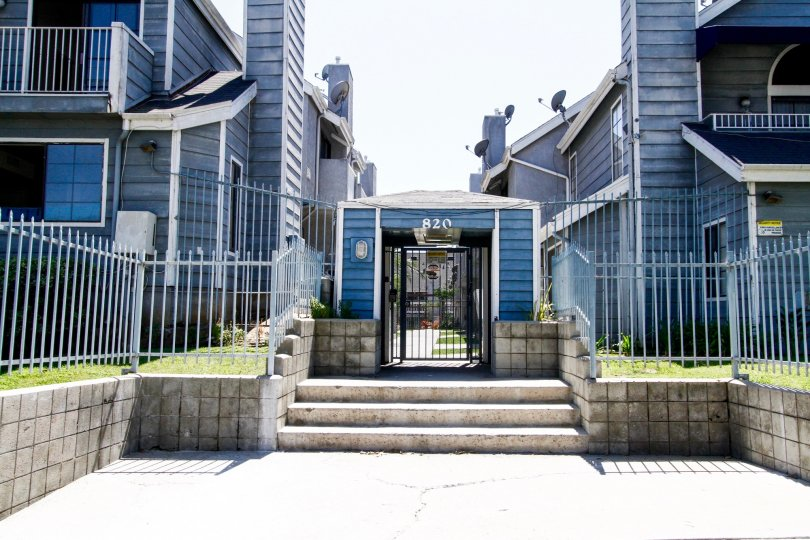 The entrance into Acacia Villas in Inglewood