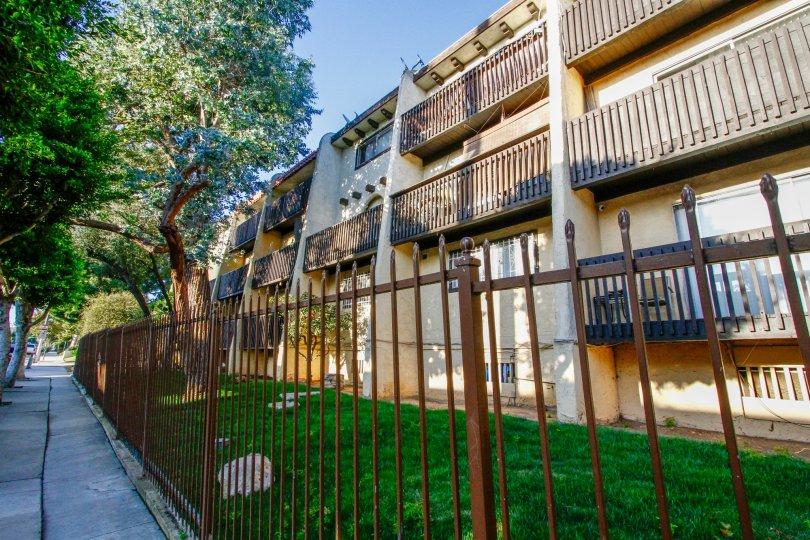 The balconies at Eucalyptus Grove in Inglewood