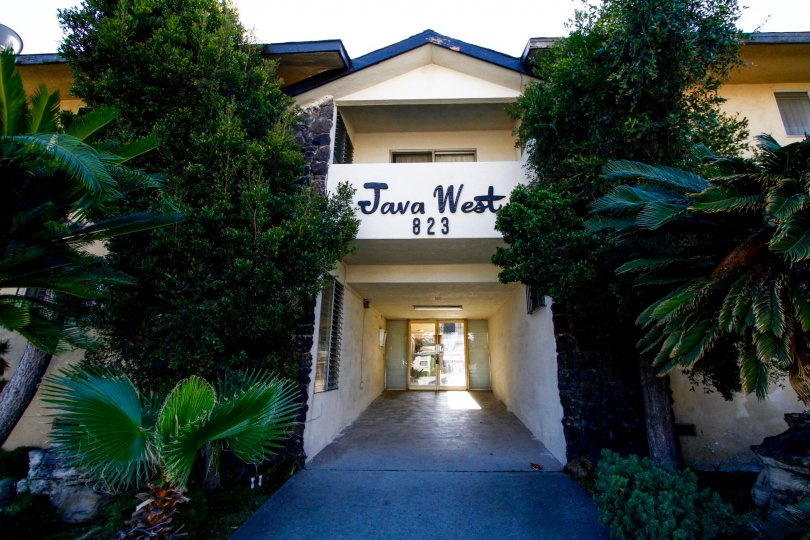 The entrance into the Java West in Inglewood