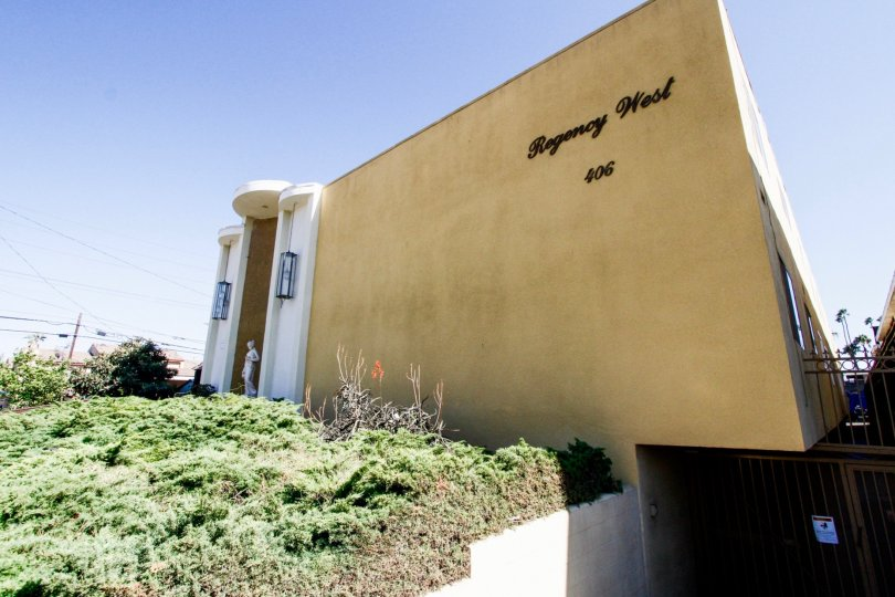 The landscaping of the Regency West in Inglewood