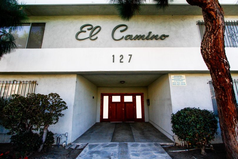The entrance at The El Camino