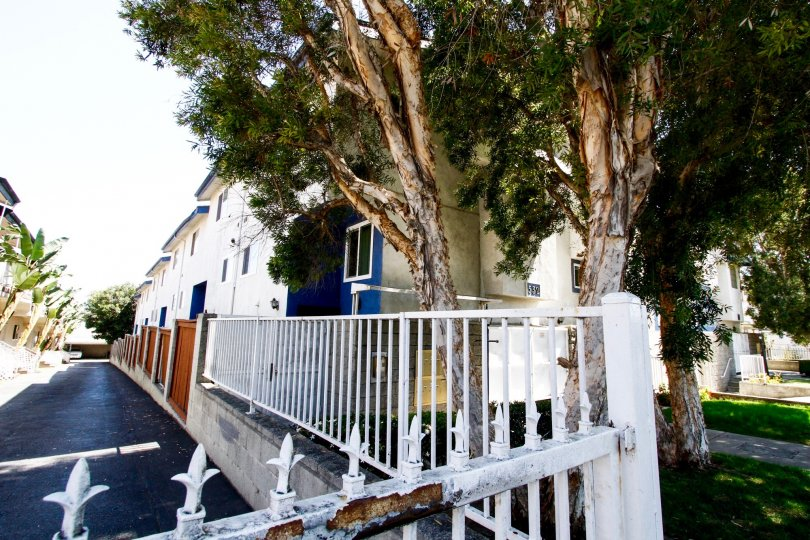 The fence surrounding Venice Way Townhomes in Inglewood
