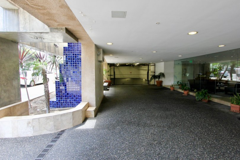 The beautiful and serene lobby with gated entrance