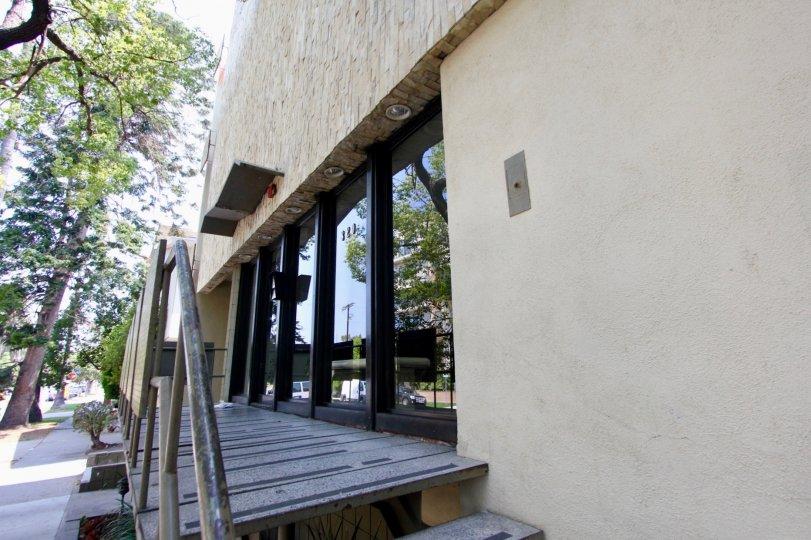 Very close shots of Essex House, Koreatown, California