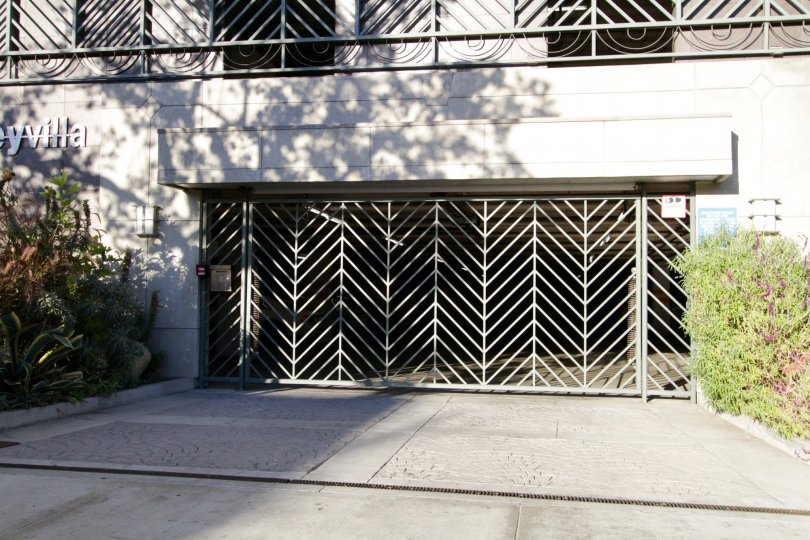 The Gated entrance to Kingsley Villa in Koreatown