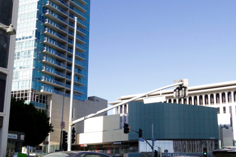 Solair is a tall multistory condo building in Koreatown