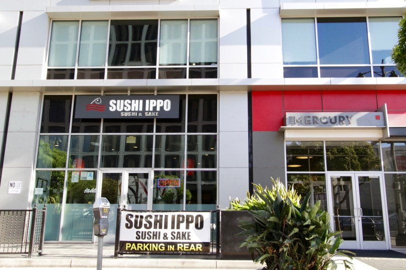 Sushi Ippo is next door to The Mercury front entrance