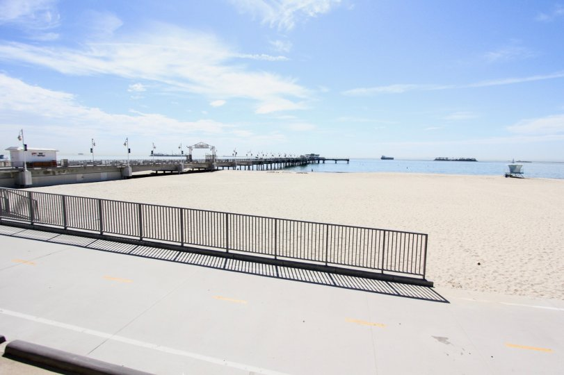 The walkway along 20 38th PI in Long Beach, California