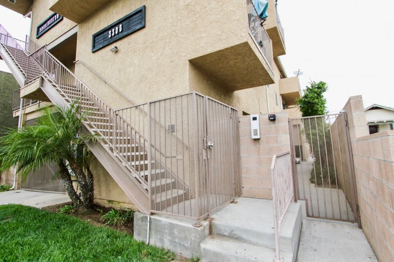 A gate in front of the stairs for extra privacy at 3305 Ransom