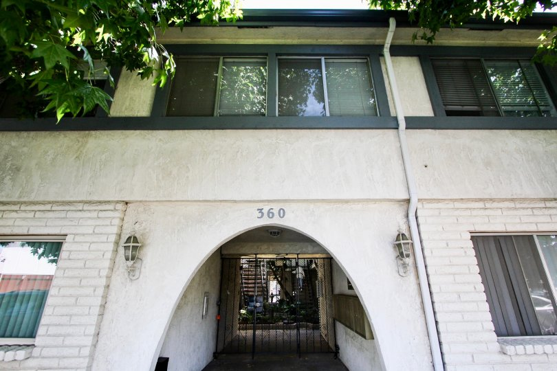 The address for 360 Gladys Ave above the entrance