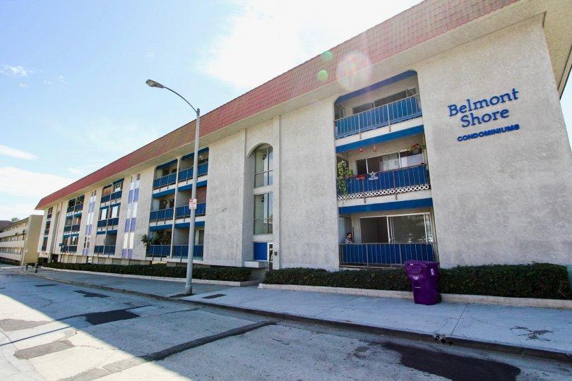 The view of Belmont Shore Condominiums in Long Beach, California