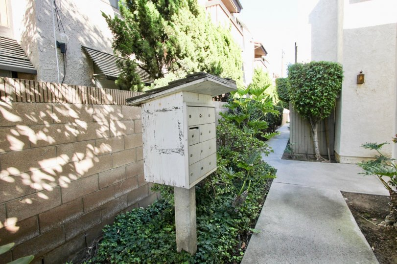 The mail area for residents of Bixby Knolls