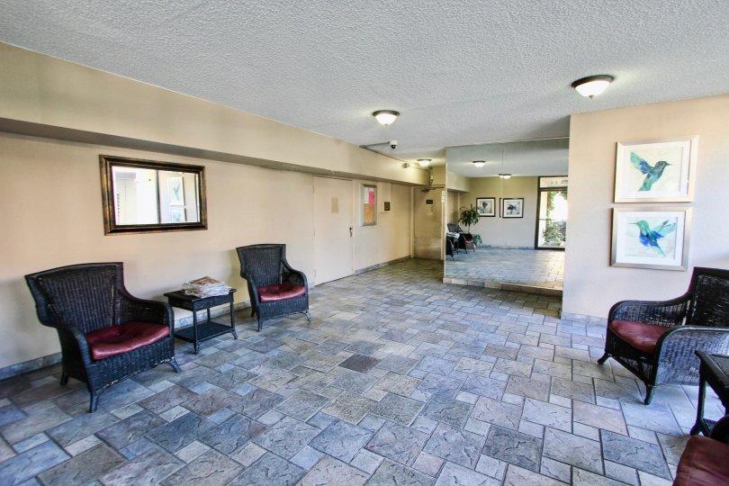 The foyer when entering into Bixby Terrace