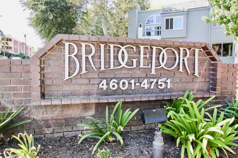 The sign into the Bridgeport area in Long Beach, California