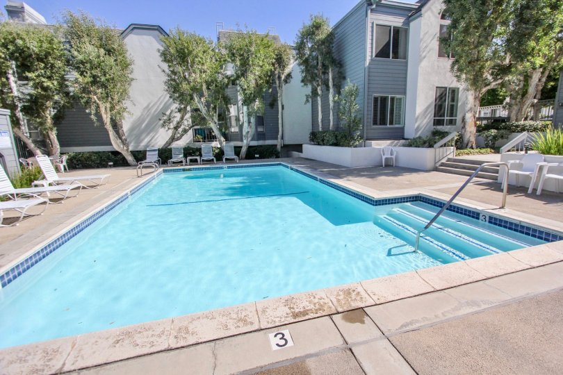 The pool at Bridgeport for resident use