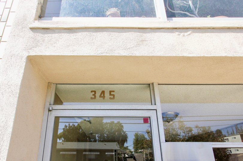 The address above the entrance into Carroll Park Plaza
