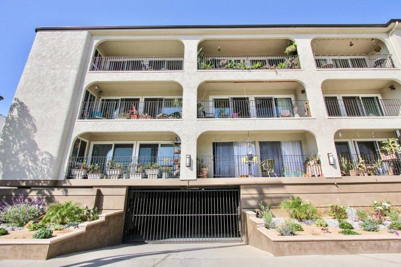 The balconies at Casa Grande