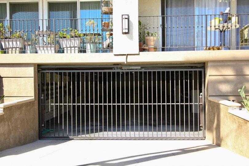 The parking garage for Casa Grande residents