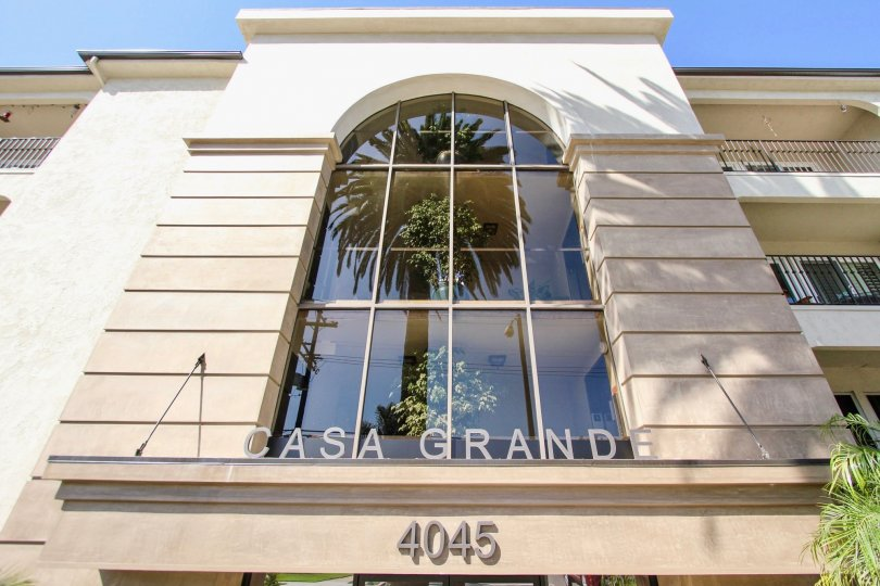 The address for the Casa Grande above the entrance