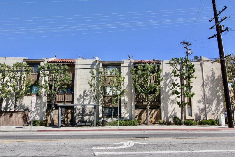 The view of Casa Maria in Long Beach, California