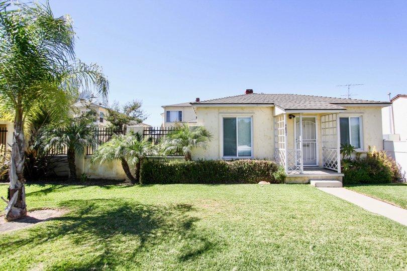 The yard in front of Clark Avenue Villas in Long Beach, California