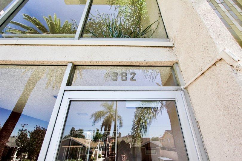 The address above the entrance into Coronado Heights