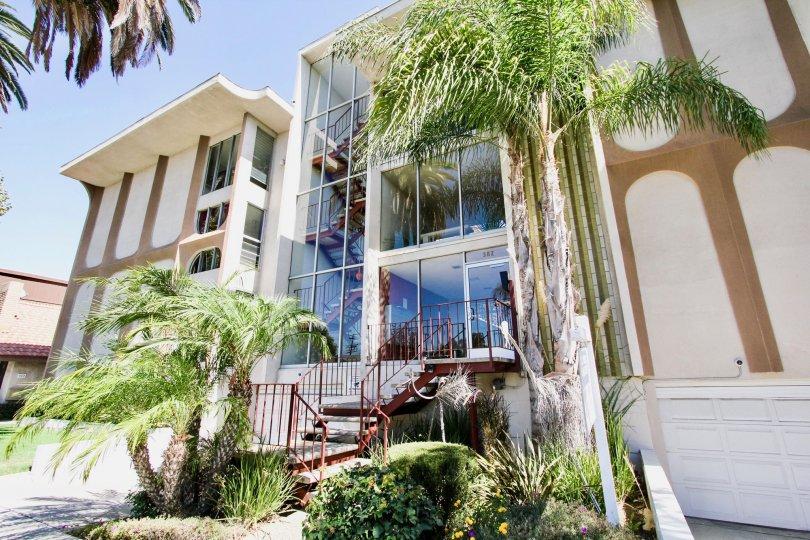 The landscaping around the Coronado Heights in Long Beach, California
