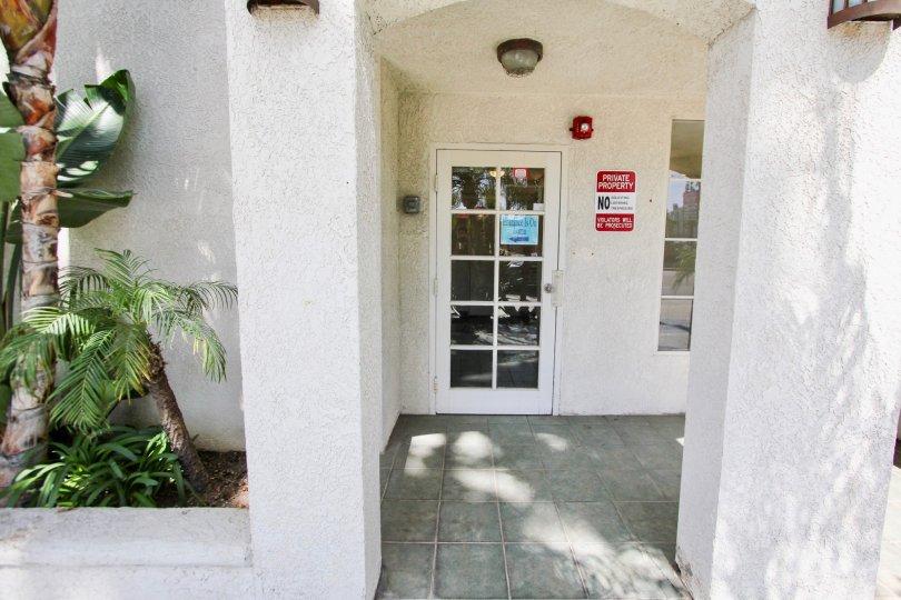 The entrance into East Park Villas