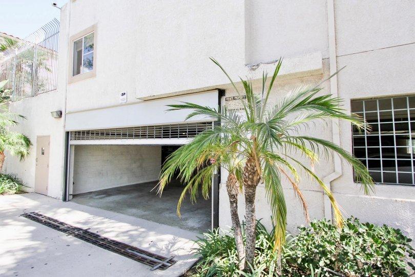 The parking garage for East Park Villas in Long Beach, California